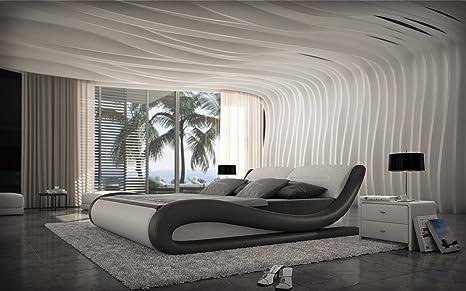 Design Bett 200 x 220 cm Polsterbett Lederbett Aprilia auch andere Größen verfugbar