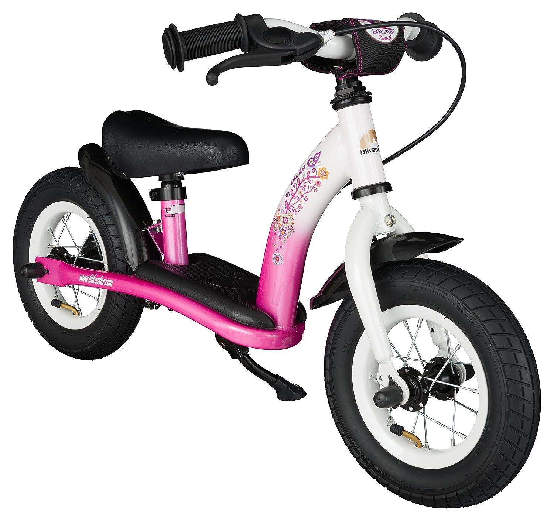 BIKESTAR® Premium Sicherheits-Kinderlaufrad für kleine Abenteurer ab 2 Jahren ★ 10er Classic Edition ★ Flamingo Pink & Diamant Weiß kaufen