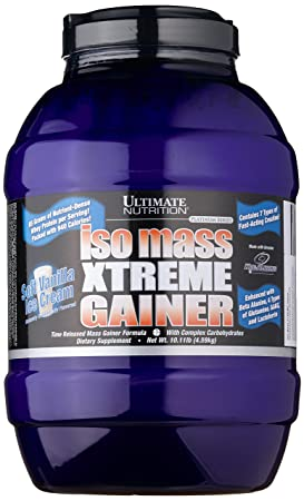 Ultimate Nutrition ISO MASS Xtreme Gainer Soft Vanilla Ice, 1er Pack (1 x 4.59 kg)