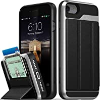 Vena Flip Leather Cover Card Slot Holder Wallet Case with KickStand for iPhone 8