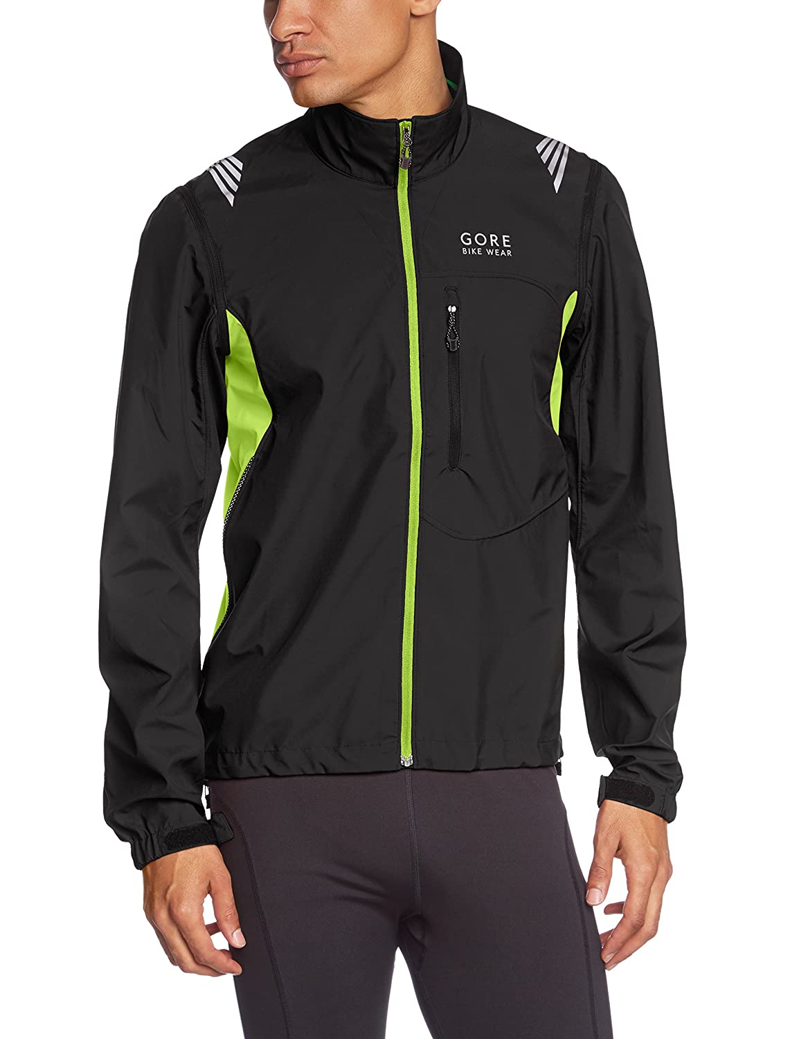 GORE BIKE WEAR Herren winddichte Fahrradjacke, WINDSTOPPER Active Shell, Element WS AS Zip-Off, JWAELM jetzt kaufen