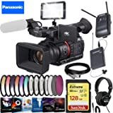 Panasonic?AG-CX350 4K Camcorder - Creative Filter Kit - LED Video Light - Video Editing Software - Wireless Lavalier Sound Recording - Sony Studio Headphones - Extreme Accessory Bundle (Tamaño: Extreme Accessory Combo)