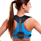 Aroamas Posture Corrector for Women & Men, Relieves Upper Back & Shoulders Pain, Corrects Slouching, Hunching & Bad Posture, Clavicle Support Adjustable Brace (Color: Style 1, Tamaño: M1)