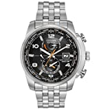 Citizen Men's Eco-Drive World Time Atomic Timekeeping Watch with Day/Date, AT9010-52E (Color: Silver Tone Stainless Steel, Tamaño: Case diameter-dimension 44 mm Case thickness 13 mm)