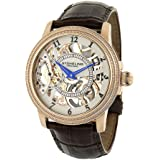 Stuhrling Original Men's 228.33452 Symphony Saturnalia Brumalia Analog Mechanical Hand Wind Brown Leather Watch