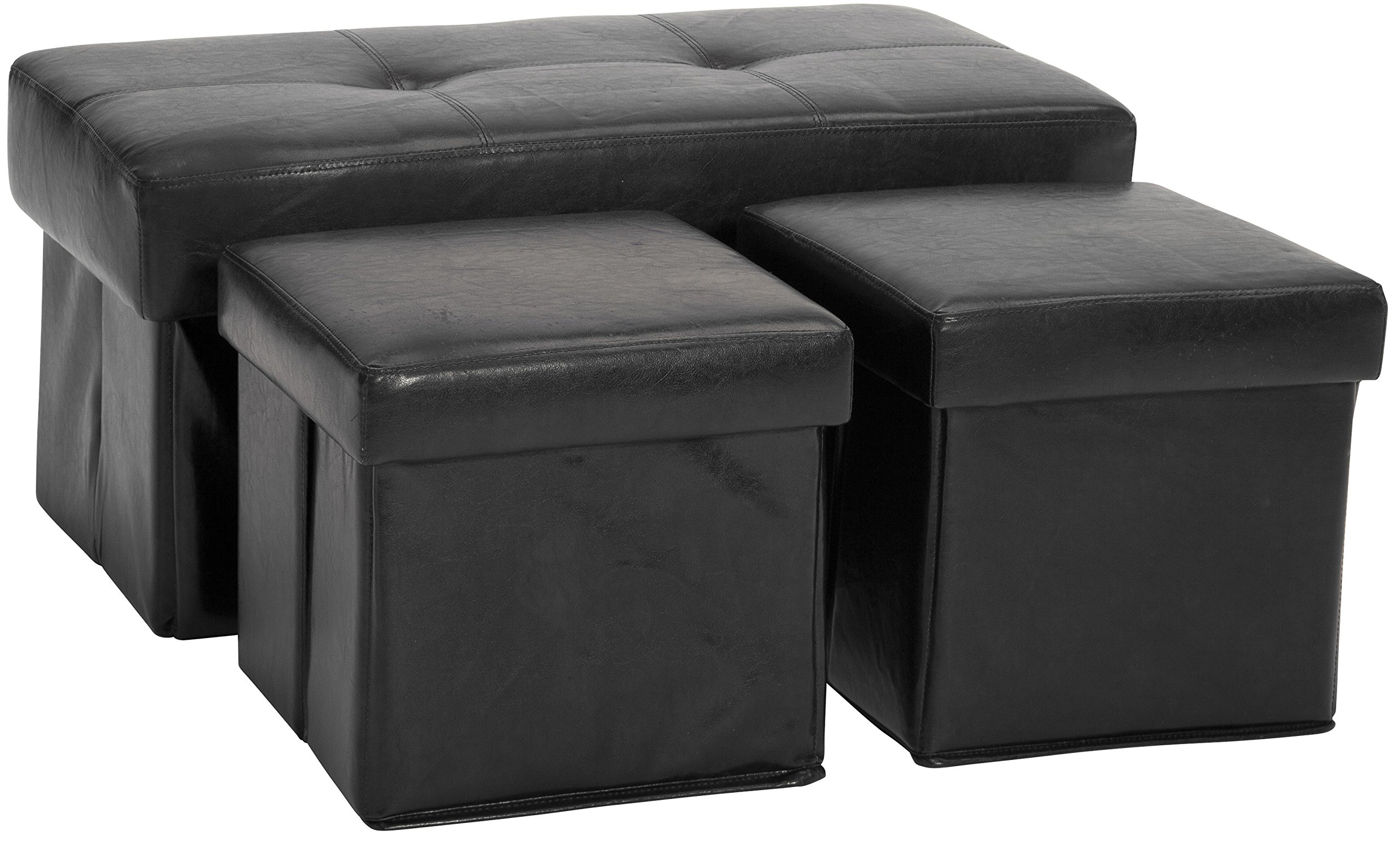 Epic Furnishings 3-Piece Collapsible Storage Ottoman/Table and Bench Set Suede Khaki  sc 1 st  FurnitureNDecor.com & Epic Furnishings 3-Piece Collapsible Storage Ottoman/Table and Bench ...