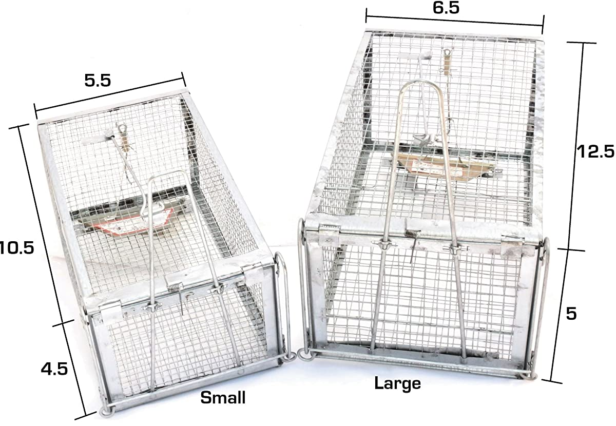 AB Pro-Quality Live Animal Humane Trap Catch and Release Rats Mouse Mice Rodents Squirrels and Similar Sized Pests - Safe and Effective
