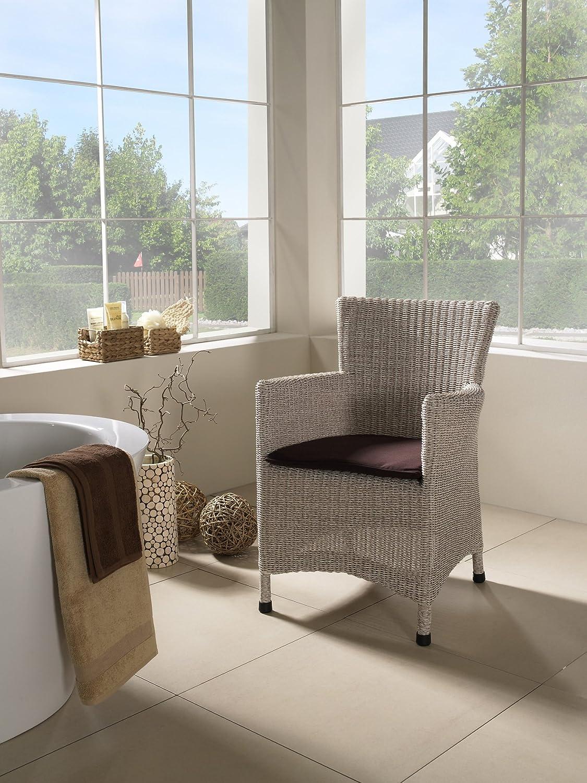 """Sessel Stuhl Polyrattan """"Aga"""" altweiß, ähnlich dem angesagten Shabby Chic Polyrattan Rattan Sessel Rattanstuhl Rattansessel Gartensessel Gartenstuhl Relaxsessel Esszimmerstuhl grau, Polyrattan jetzt bestellen"""