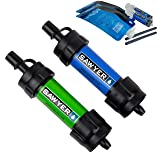 Sawyer Products SP2101 Mini Water Filtration System, 2-Pack, Blue and Green (Color: Blue & Green, Tamaño: 2-Pack)