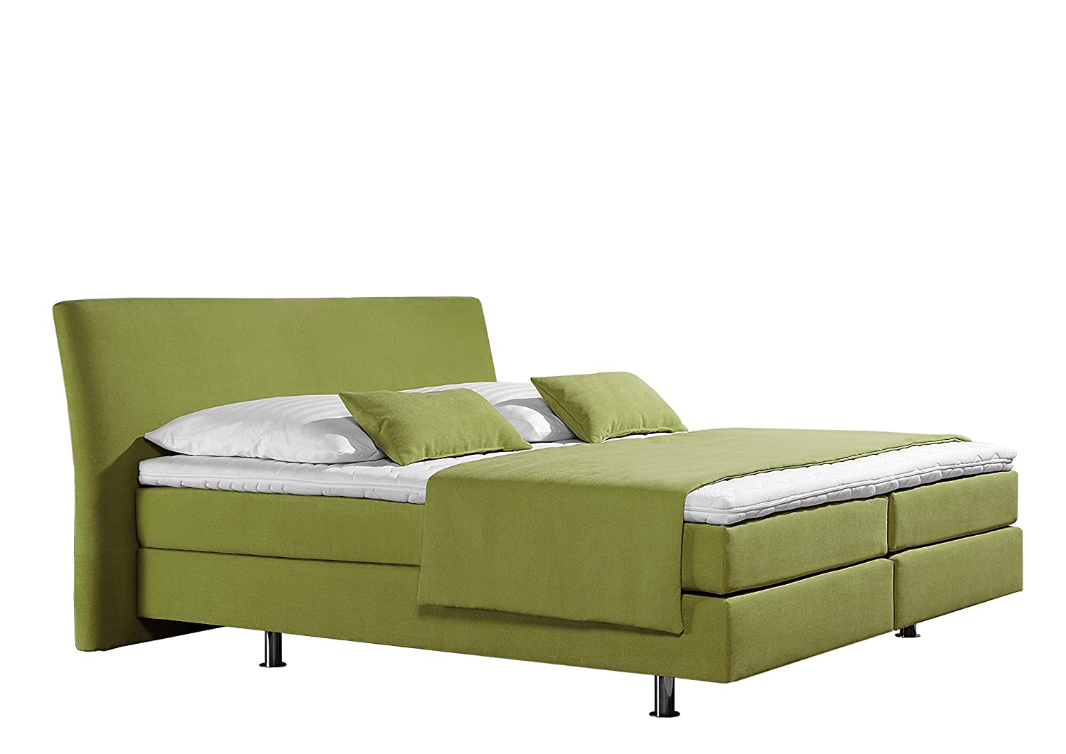 Maintal Betten 237373-4173 Box springbett Club 180 x 200 cm, Strukturstoff lemon