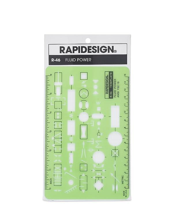Rapidesign Fluid Power Template, 1 Each (R46)