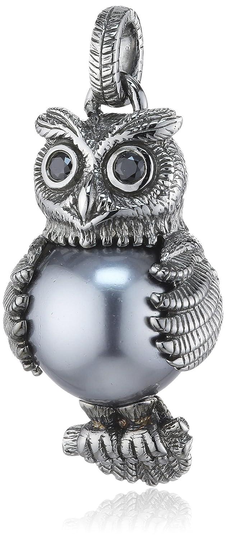 Heartbreaker Damen-Anhänger 925 Silber Perle schwarz Brillantschliff Zirkonia Grau – LD OW 33- B günstig kaufen