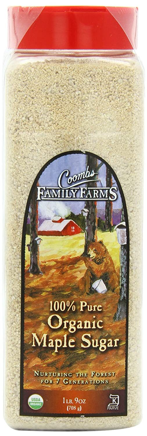 Coombs Family Farms 100% Organic Maple Sugar, 25-Ounce Container
