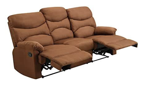 Glory Furniture G406-RS Reclining Sofa, Chocolate