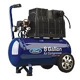 Ford Silent Series 8 Gallon Horizontal Tank 1.5 HP, 125 Max PSI Oil-Free Air Compressor, FCE6080Q (Tamaño: 8 gal Horizontal)