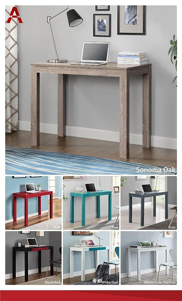 Altra Delilah Parsons Desk with Drawer, Sonoma Oak