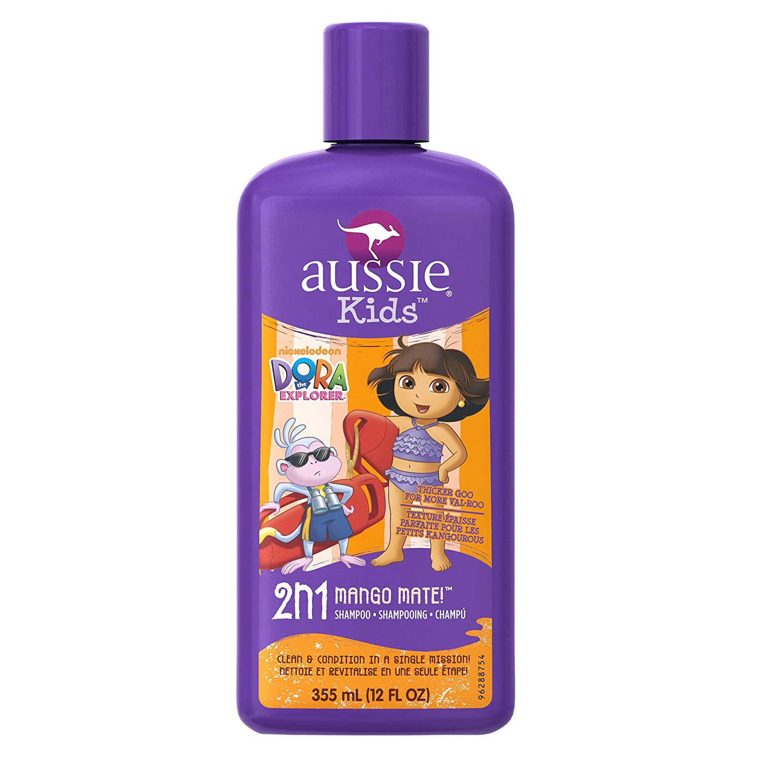 Aussie Dora the Explorer Mango Mate 2 In 1 Shampoo & Conditioner, 12-Fluid Ounce