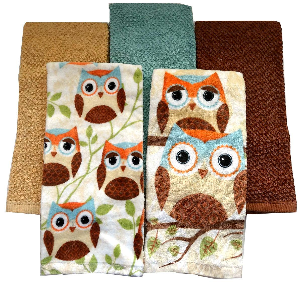 Thanksgiving Owls Kitchen Towel Sets