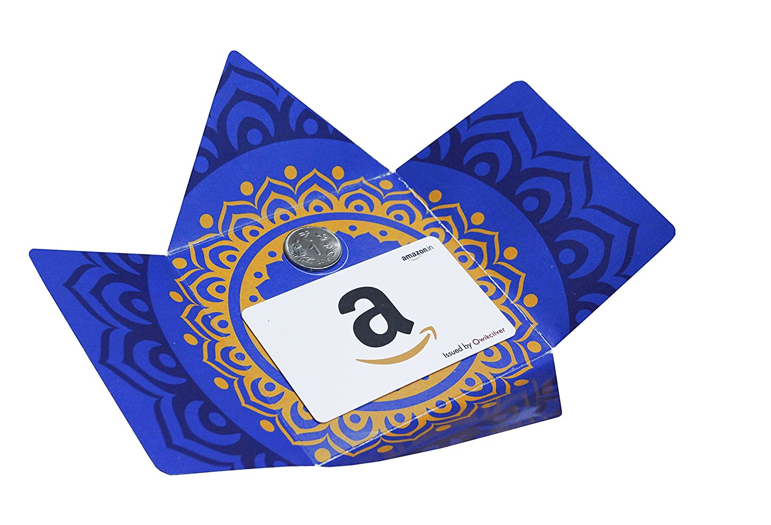 Amazon.in Gift Card Blue Festive Bloom Gift Box