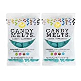 Wilton Candy Melts, Turquoise (Blue Green), Great For Party Cake Pops, Cookies, Molded Candies Fondant Desserts Treats & More, 12 Oz. X 2 Value Pack (Color: Turquoise)