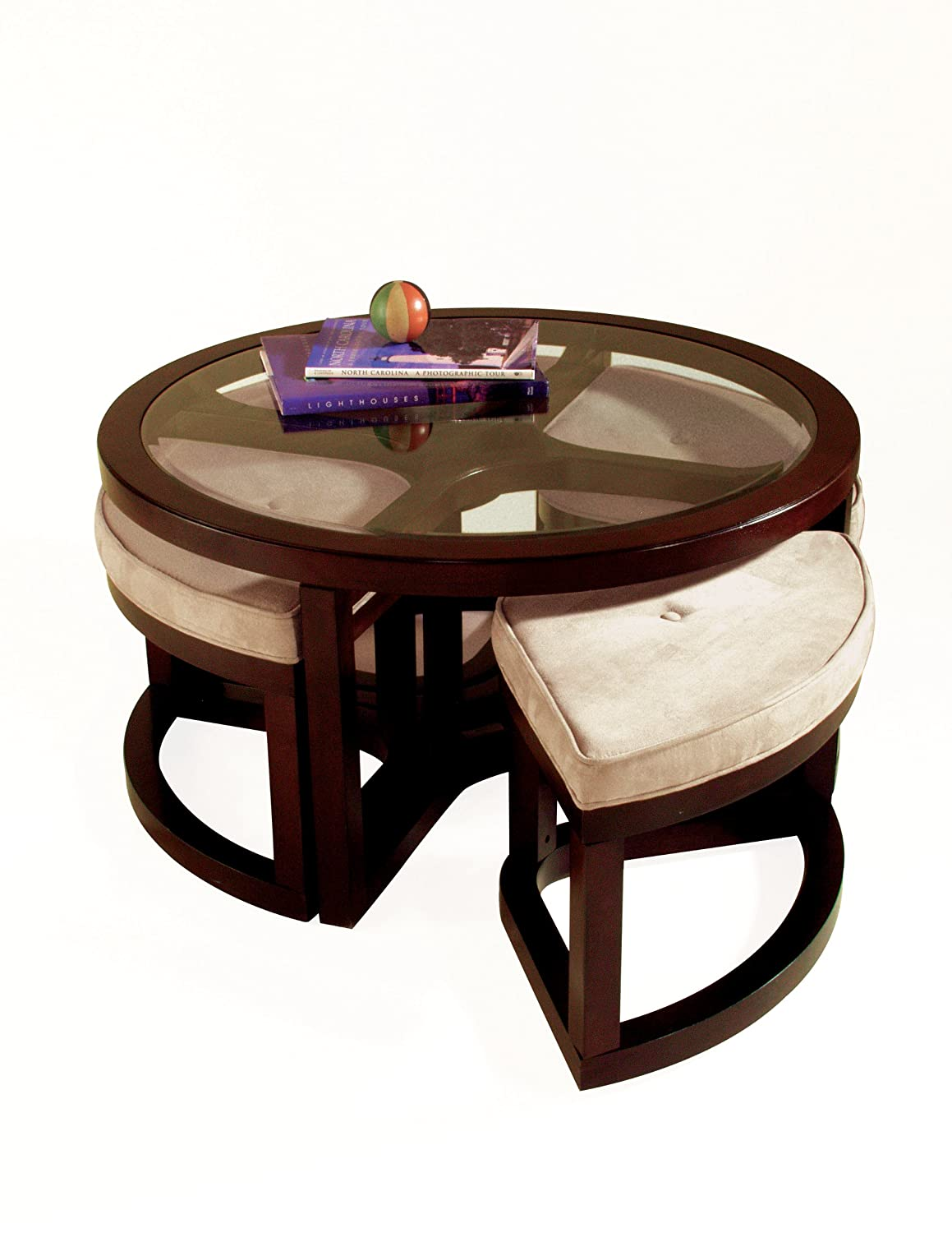 Round Ottoman Coffee Table fro small space