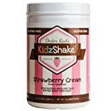 KidzShake - Kids Strawberry Cream Organic Protein Powder | Nutritional Meal Replacement Shake - Non GMO, Gluten Free, Complete Multivitamin w/Probiotics, 12.13 oz (Tamaño: 12.13)