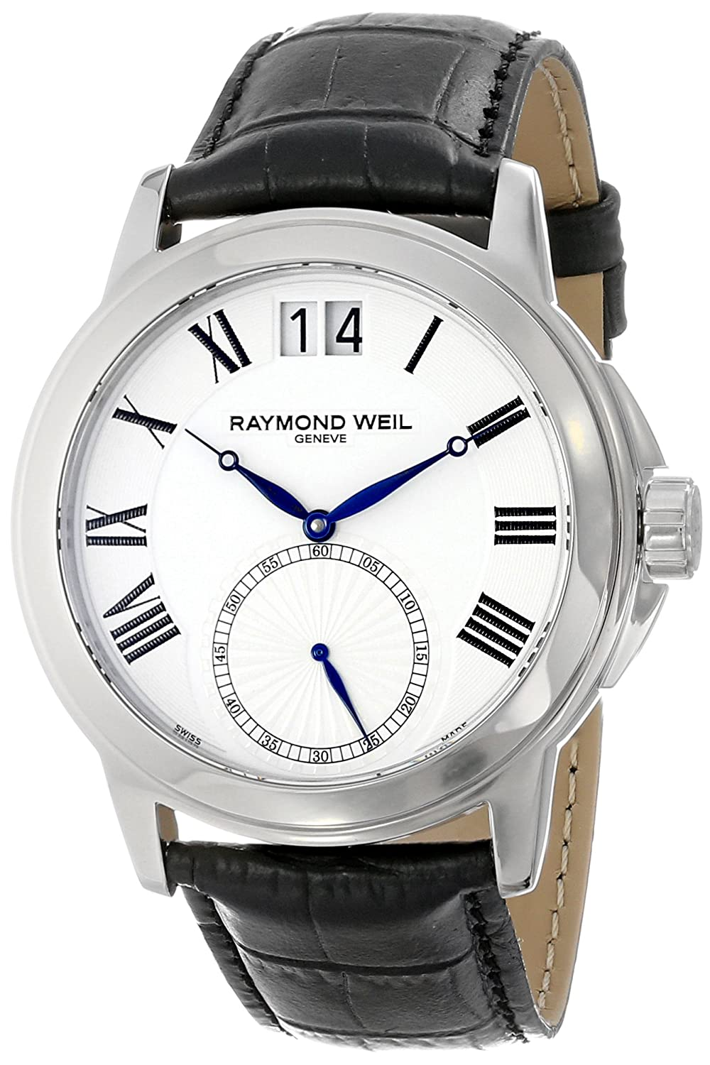 Raymond weil men 39 s 9578 stc 00300 39 tradition 39 black leather watch 639767604406 ebay for Raymond watches