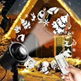 Christmas Projector Lights Outdoor LED Santa Claus Laser Lights Waterproof Snowfall Landscape Light with Remote for Holiday Outdoor Christmas Decoration (Color: Christmas 3D Projector)