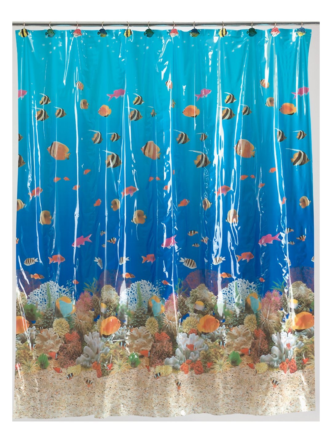 Shower curtain fish