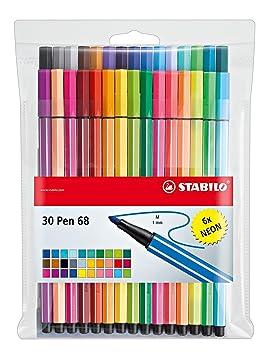 colorful medium 4er Etui Tintenroller 0,5 mm Büro Schlule Uni STABILO worker