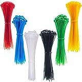 4 Inch Thin Zip Ties, 120pcs Clear Nylon Cable Ties, 6 Multi-colors (Color: 00.multi-colors 120PCS, Tamaño: 3X100mm)