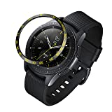 ANCOOL Compatible Samsung Galaxy Watch 42mm/Gear Sport Bezel Ring Adhesive Cover Anti Scratch Stainless Steel Protector Design for Galaxy Watch 42mm/Gear Sport -Yellow (Color: Q-10, Tamaño: 42mm)