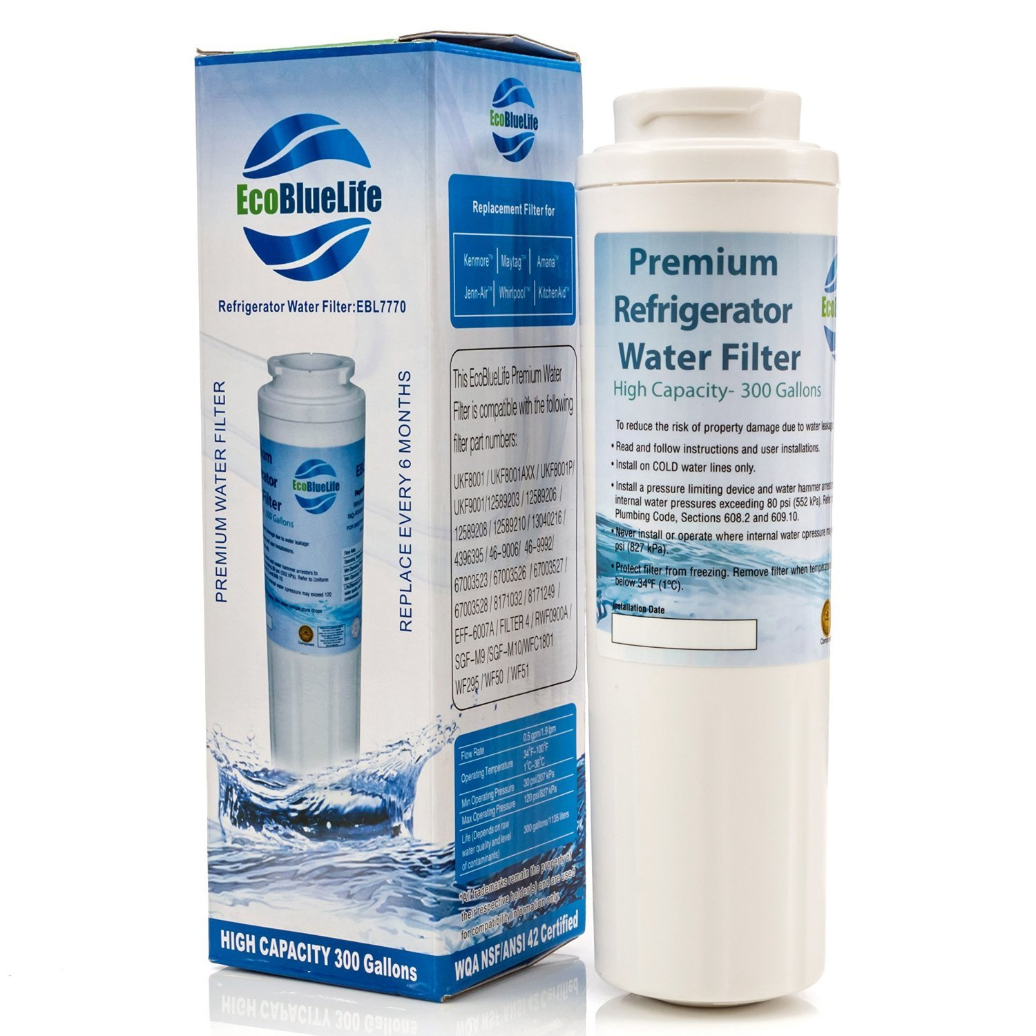 Whirlpool w10413645a edr2rxd1 compatible genrt - Whirlpool pur ice and water filter ...