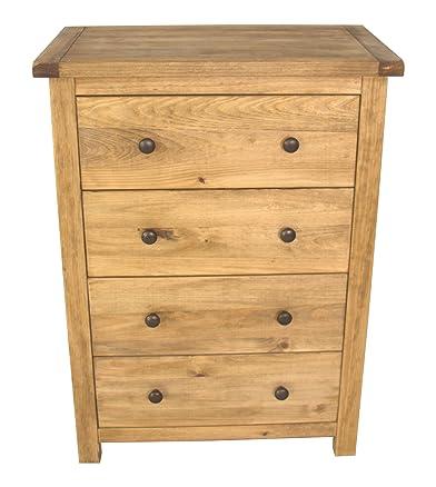CBC Cabinets 4 cassetti piccoli, in legno, finiture in cera