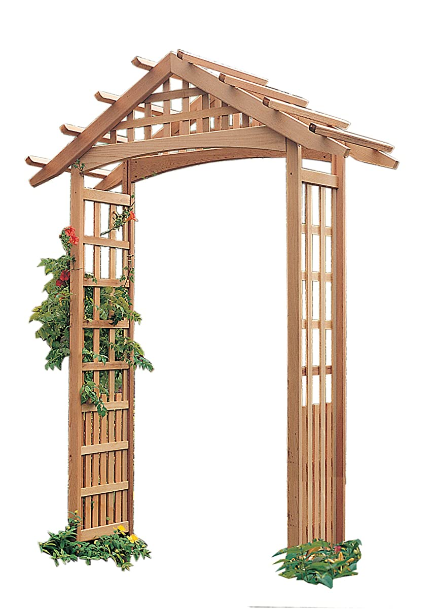 Arboria Nantucket Garden Arbor Cedar Wood 90 Inches High Extra Strong to Hold Heavier Vines and Plants