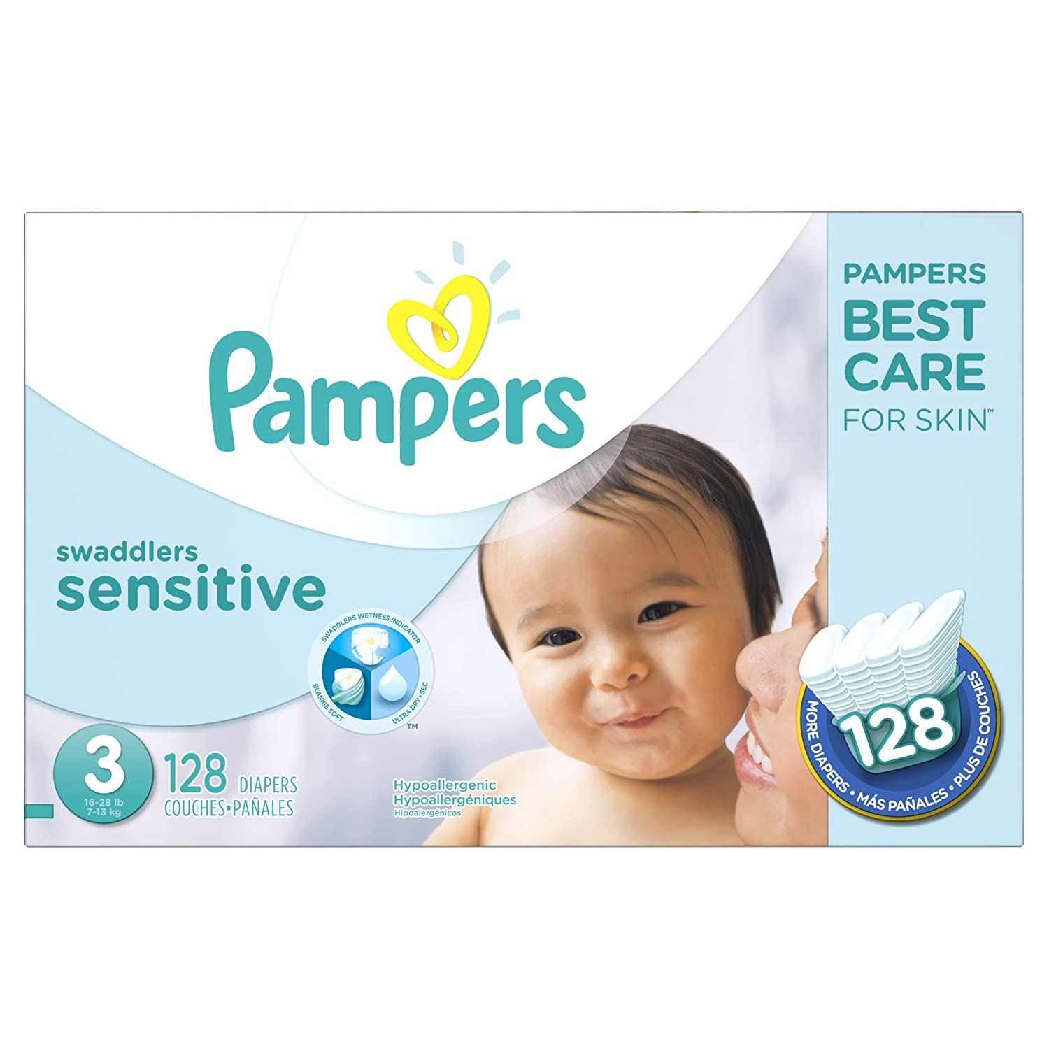 Pampers Swaddlers Sensitive Diapers Size 3 128 Count