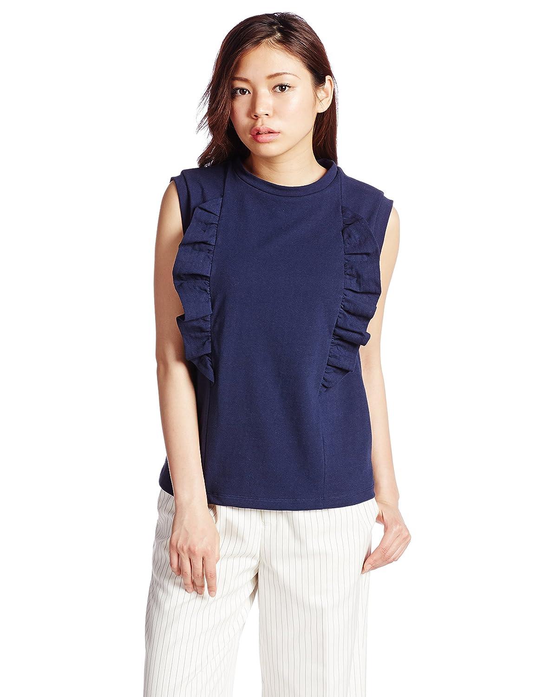 Amazon.co.jp: (フレイ アイディー)FRAY I.D カットフリルトップス FWCT152758 89 NVY F: 服&ファッション小物通販