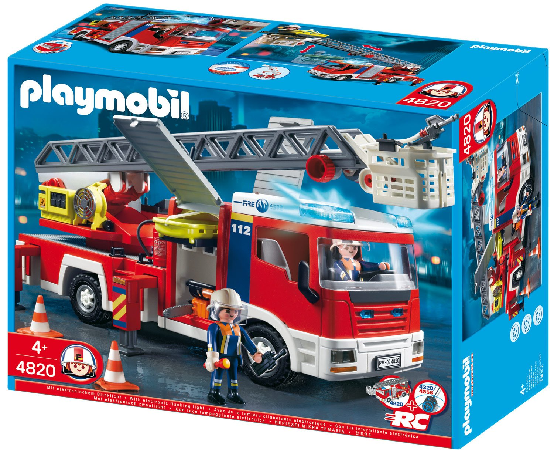Playmobil feuerwehr leiterfahrzeug 4820 preisvergleich - Playmobil de pompier ...