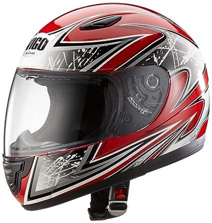 Protectwear SA03-RT-XS Casque de Moto pour Enfant, Rouge, Taille XS