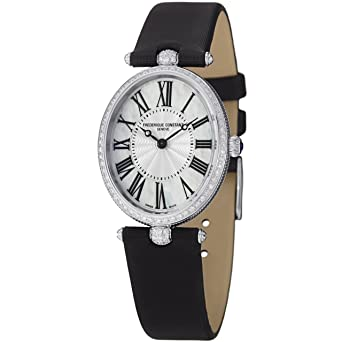 Frederique Constant Women's FC200MPW2VD6 Art Deco Analog Display Swiss Quartz Black Watch