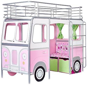 HelloHome Devan Mid Sleeper Bed - Pink