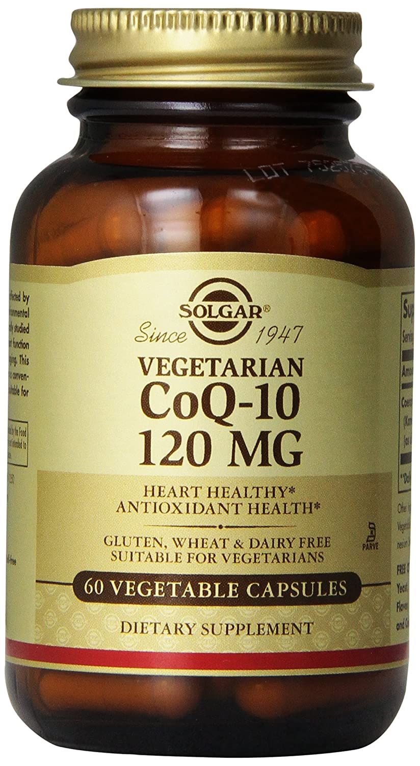 Solgar Vegetarian CoQ-10 Vegetable Capsules, 120 mg, 60 Count