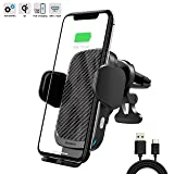 ZOOAUX Fast Wireless Car Charger Vent Mount, Automatic Clamping 10W/7.5W Fast Charging Air Vent for Car Compatible iPhone 11/11 Pro/11 Pro Max/Xs MAX/XS/XR/X/8/8+,Samsung S10/S10+/S9/S9+/S8/LG V30/etc (Color: Black)