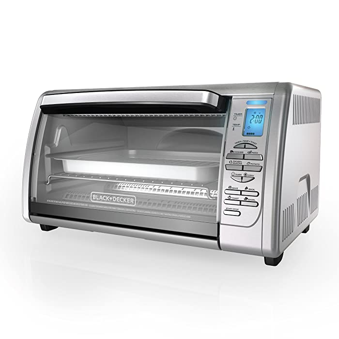 Black and Decker CTO6335S Digital Convection Countertop Toaster Oven, Stainless Steel Via Amazon