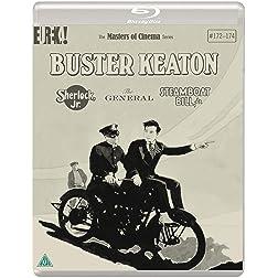 Buster Keaton: 3 Films Sherlock Jr., The General, Steamboat Bill, Jr.  Masters of Cinema [Blu-ray]