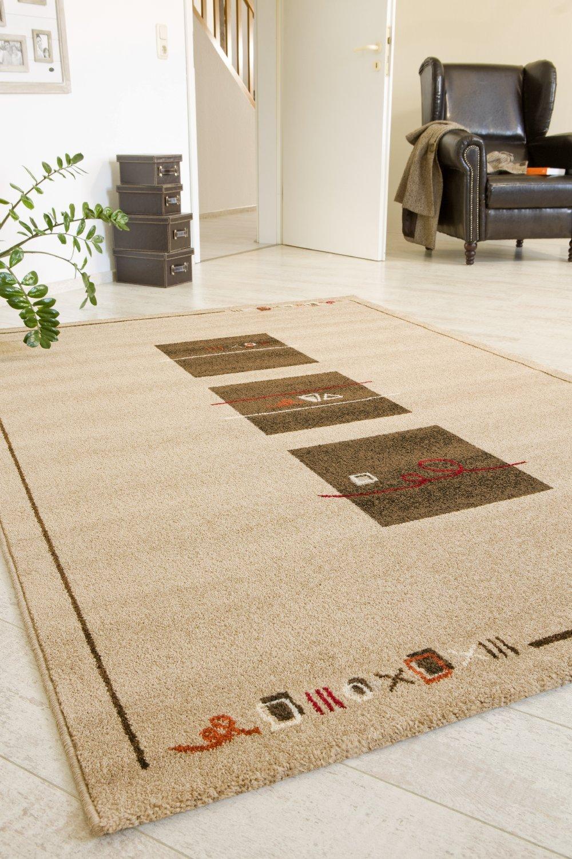 """TEPPICHWELT SONA-LUX Teppich gewebt sand """"Größe auswählen"""" 160 x 230 cm"""