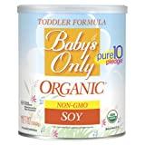 Baby's Only Soy Organic Toddler Formula, 12.7-Ounce Canister (Package May Vary) (Color: Soy, Tamaño: 12.7 Ounce)