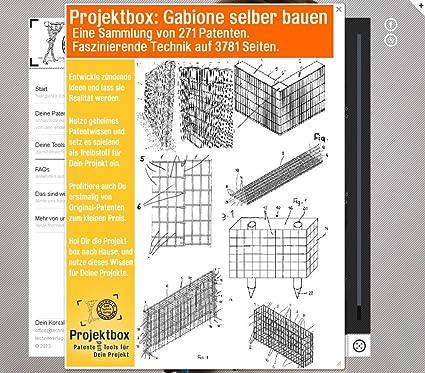 gabione selber bauen deine projektbox inkl 271 original patenten. Black Bedroom Furniture Sets. Home Design Ideas
