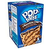 Pop-Tarts BreakfastToaster Pastries, Frosted Chocolate Chip Flavored, Bulk Size, 96 Count (Pack of 12, 14.7 oz Boxes)