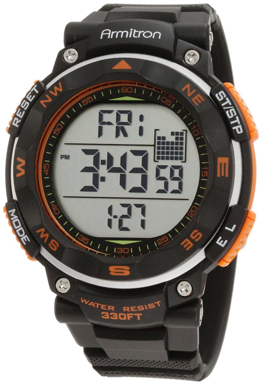 armitron 40 8254org black orange accented